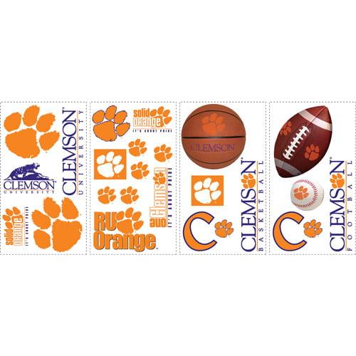 Room Mates Collegiate Sports 26 Piece Appliqu Clemson Tigers Wall Decal Set