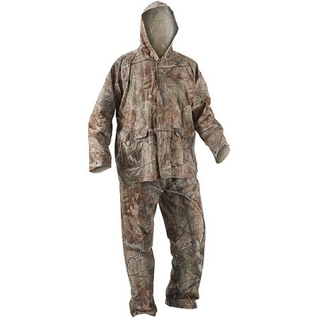Remington PVC Adult Rain Suit, Camouflage, XL/XXL