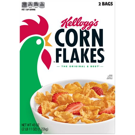 Kelloggs Corn Flakes  Cereal, 43 oz