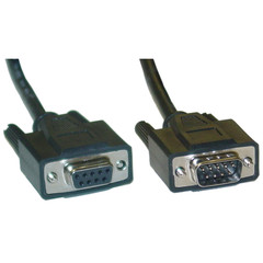 DB9 Male / DB9 Female, 9C, Serial Cable, 1:1, Black, 6 ft (UL) - 10D1-03206BK