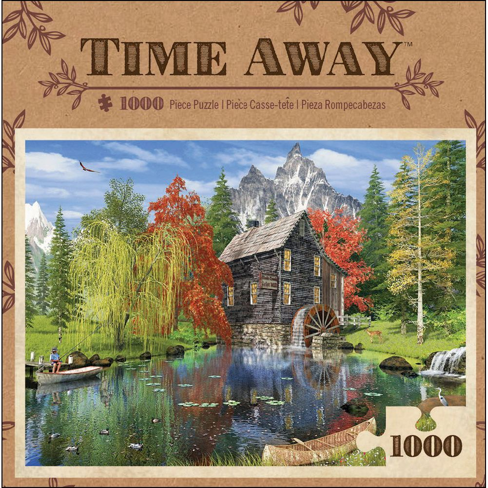 Time Away - Creekside Mill 1000 Piece Puzzle,  More Folk Art by Masterpieces Puzzle Co.