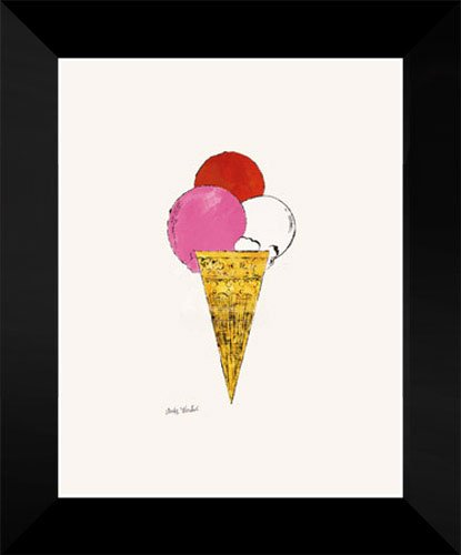 """Andy Warhol Framed Pop Art 18x15 """"Ice Cream Dessert, c. 1959 (red, pink, and white)"""""""