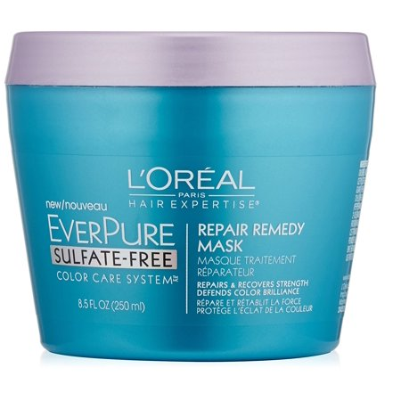 L'Oreal Paris Hair Care Expertise Everpure Repair and Defend Rinse Out Mask, 8.5 Fl Oz + Beyond BodiHeat Patch, 1