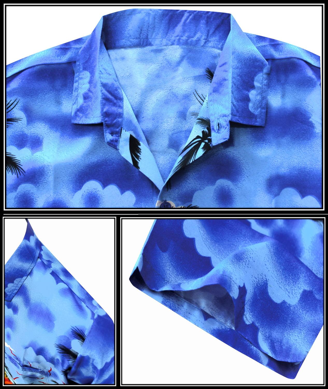 3e17c89e1 LA LEELA - Men's Regular Fit Camp Palm tree Short Sleeves Button Down Hawaiian  Shirts aloha - Walmart.com
