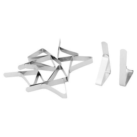 Banquet Picnic Metal Adjustable Desk Table Cloth Holder Clip Silver Tone 10pcs](Picnic Tablecloth Clips)