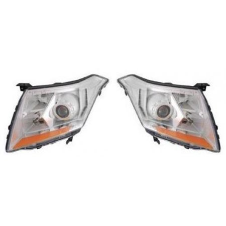 Go-Parts PAIR/SET - OE Replacement for 2010 - 2013 Cadillac SRX Front Headlights Headlamps Assemblies Front Housing / Lens / Cover - Left & Right (Driver & Passenger) Replacement For Cadillac SRX Cadillac Headlight Covers