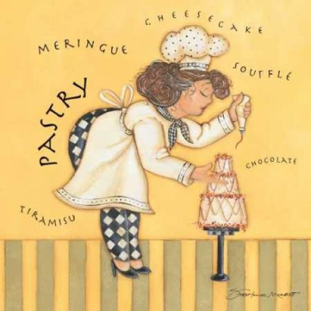 12' Pastry Roll - Pastry Chef Rolled Canvas Art - Stephanie Marrott (12 x 12)