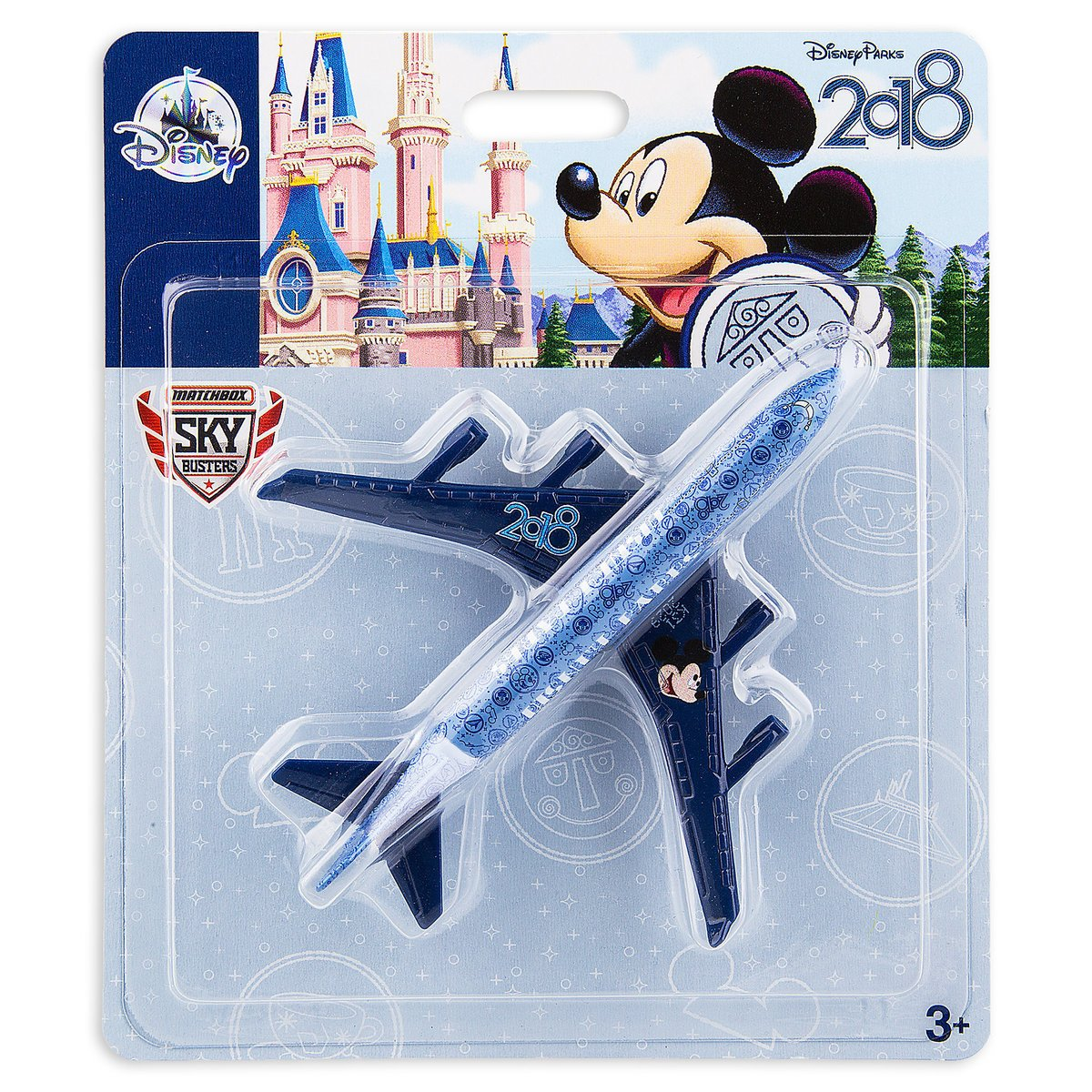 Disney Parks 2018 Walt Disney World Mickey Matchbox Model Plane New Sealed