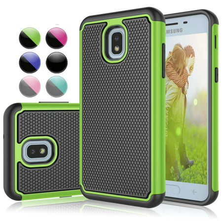 Galaxy J7 2018 Case, Njjex Samsung J7 Aero / J7 Aura / J7 Crown / J7 Top / J7 Refine / J7 Eon / J7 Star, [Shock Absorption] Hybrid Armor Defender Protective Case For SM-737V / J730GM (Aero Armor Nexus)