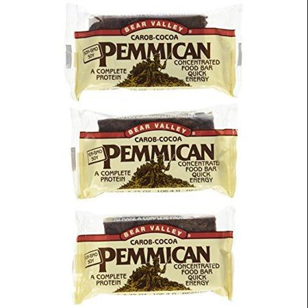 Bear Valley Pemmican Bars, Carob Cocoa, 3.75-Ounce Bars ...