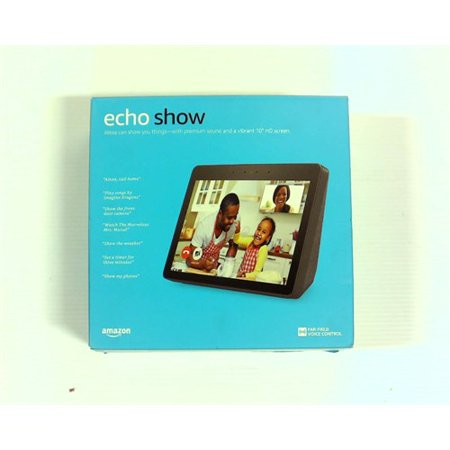 Refurbished Amazon Echo Show (2nd Gen) ? Premium sound and a vibrant 10.1? HD screen - Charcoal