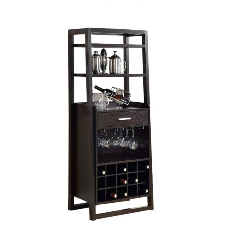 "Monarch 60"" Ladder Style Wine Bar in Cappuccino"
