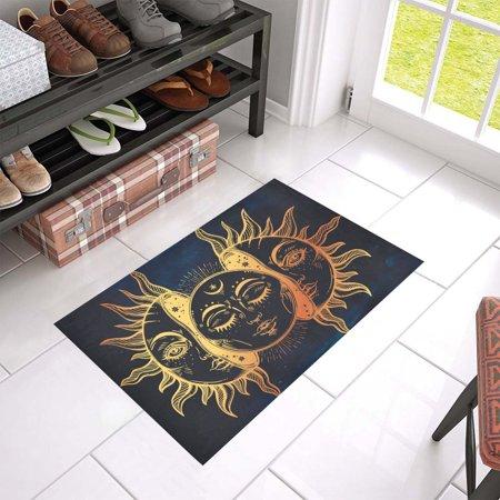 MKHERT Moon and Sun Doormat Rug Home Decor Floor Mat Bath Mat 23.6x15.7 inch