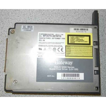 Refurbished-Gateway5500676LS-120 Super Disk Drive for the Gateway Solo 5000 Series.