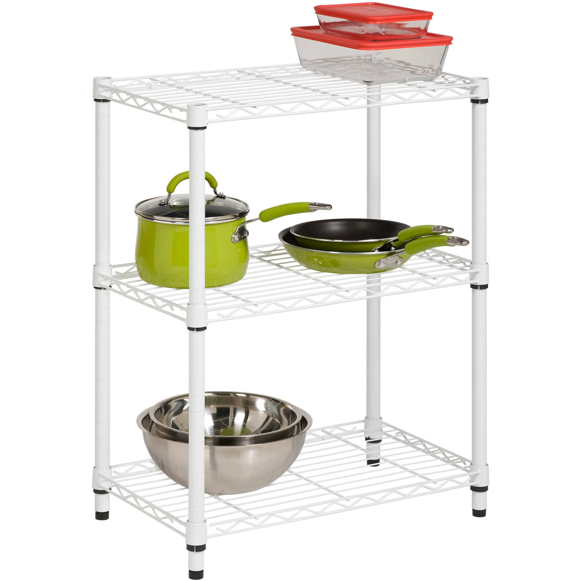Wonderful Honey Can Do 4 Shelf Steel Storage Shelving Unit, White   Walmart.com