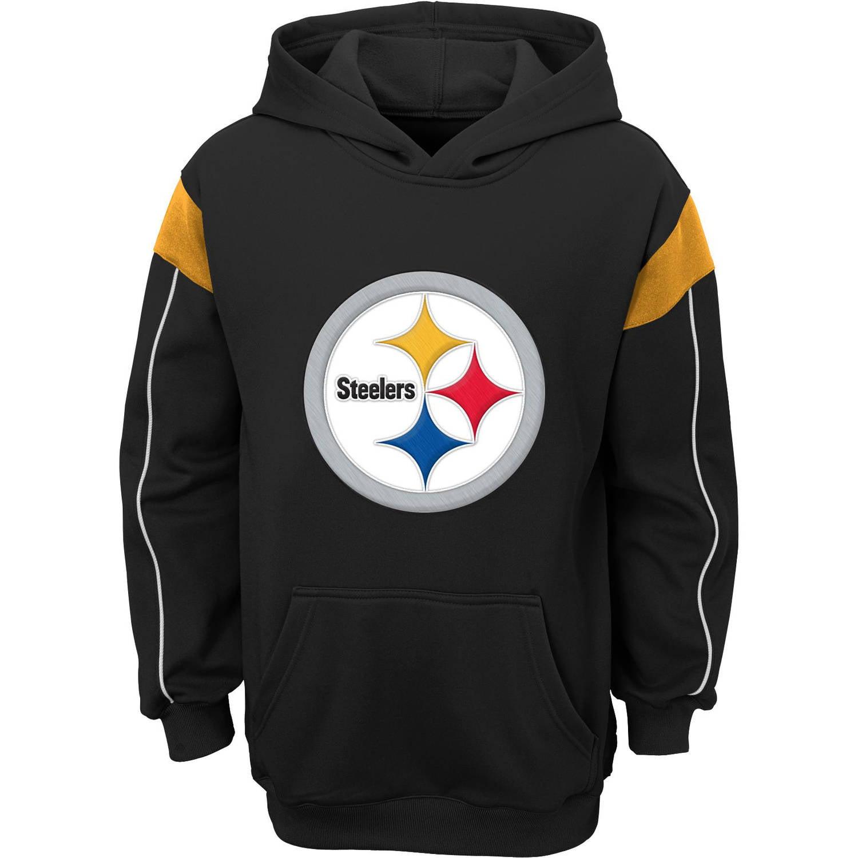 NFL Boys' Pittsburgh Steelers Team Hooded Fleece Top