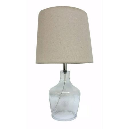 urban shop artisan glass jug lamp base grey. Black Bedroom Furniture Sets. Home Design Ideas