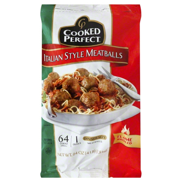 Cooked Perfect® Italian Style Meatballs 64 oz. Bag