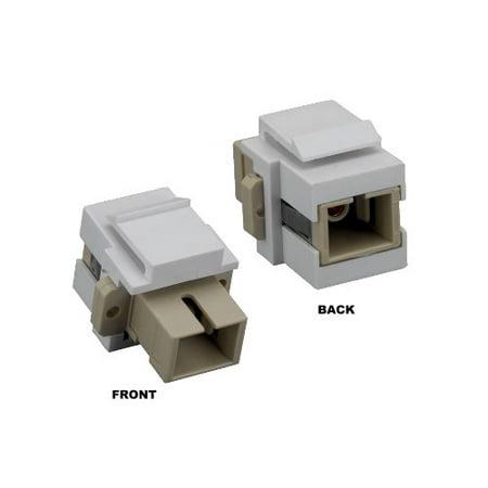 Kentek Fiber optic SC simplex keystone modular jack adapter coupler multimode ()