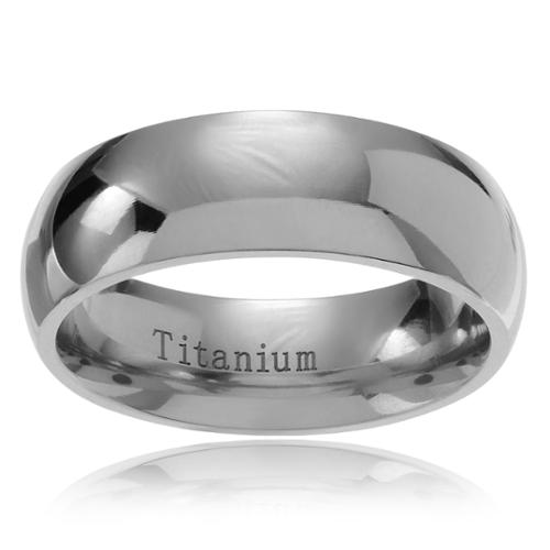 Territory Men's Titanium Classic Wedding Ring Band