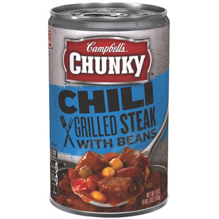 Campbells Chunky Grilled Steak With Beans Chili  19 Oz
