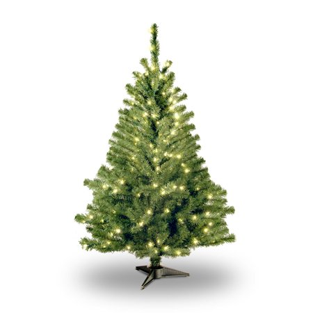 National Tree Pre-Lit 4' Kincaid Spruce Artificial Christmas Tree with 100 Clear Lights