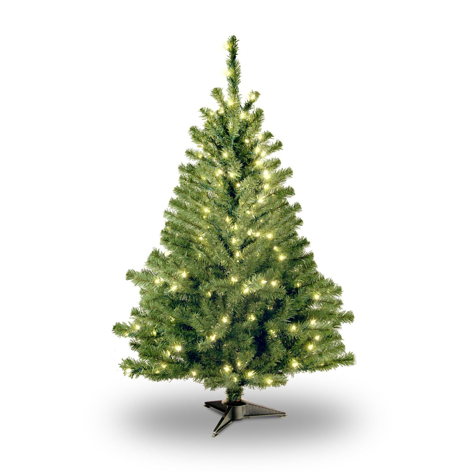 4 foot lighted christmas tree holiday product image national tree prelit 4 kincaid spruce artificial christmas with 100 clear lights foot trees walmartcom