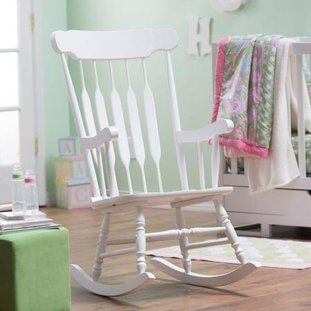 Belham Living Wood Nursery Rocker White