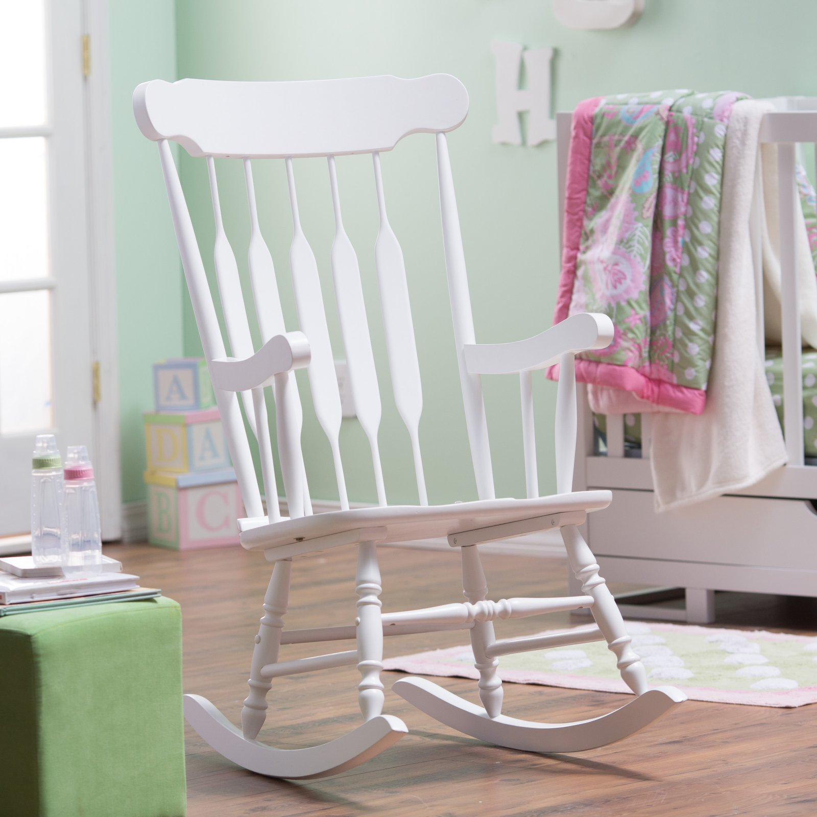 Belham Living Wood Nursery Rocker - White