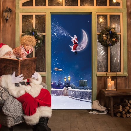 Christmas Eve Door Cover Holiday Covers Decoration 30 Inch