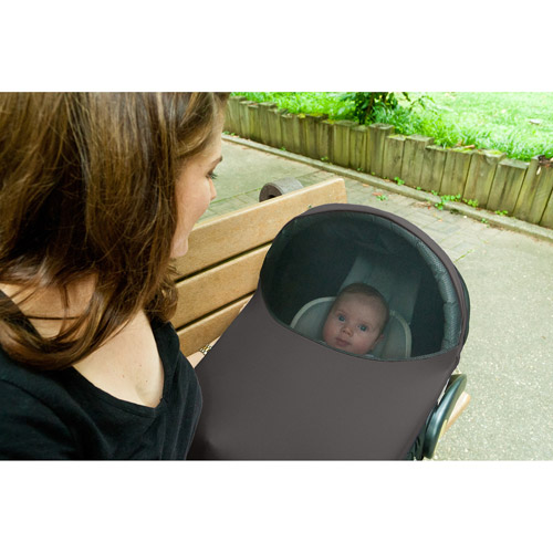 Imagine Baby The Shade Infant Car Seat Canopy Cover Gray UPF 50+ Water Resistant