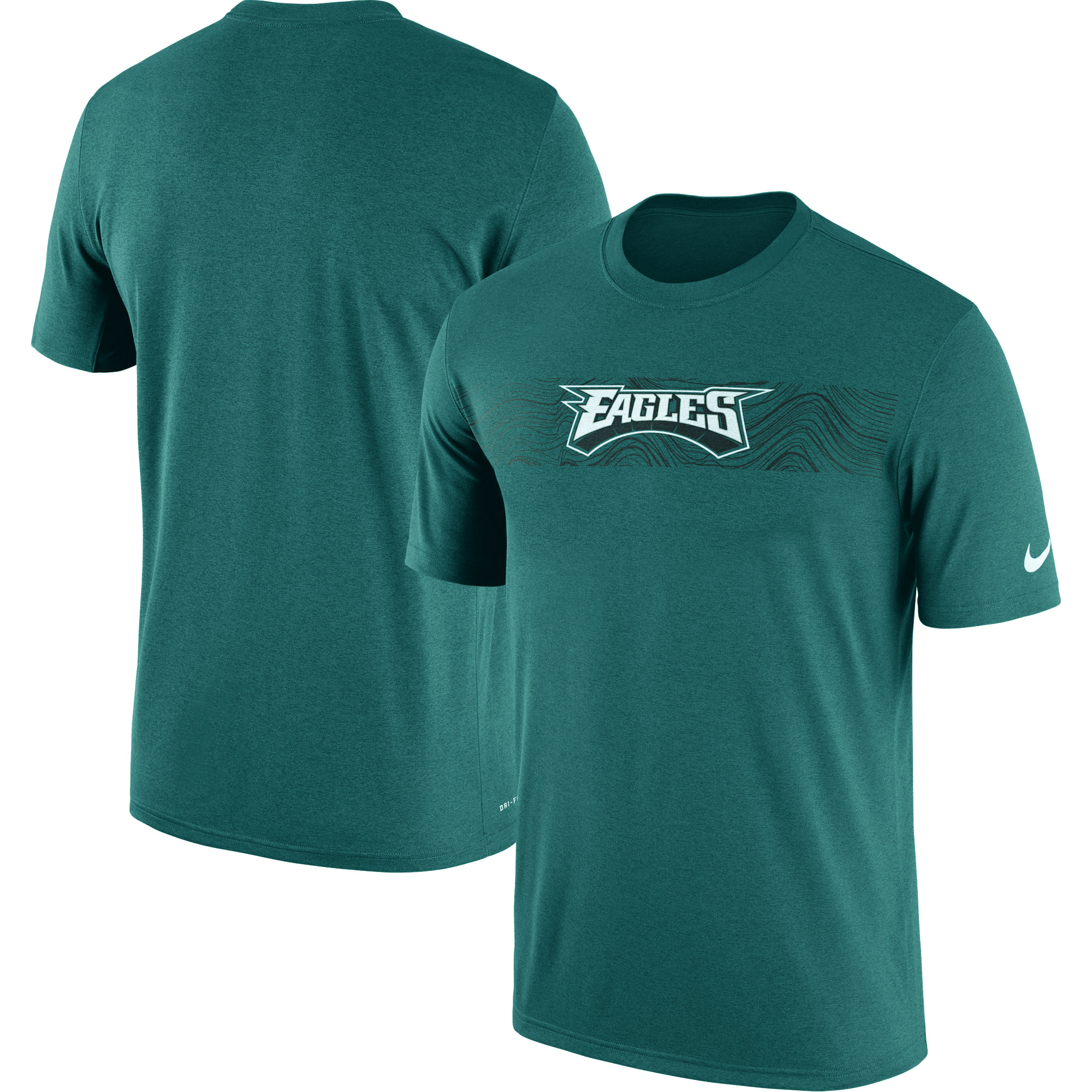Philadelphia Eagles Nike Sideline Seismic Legend Performance T-Shirt - Green