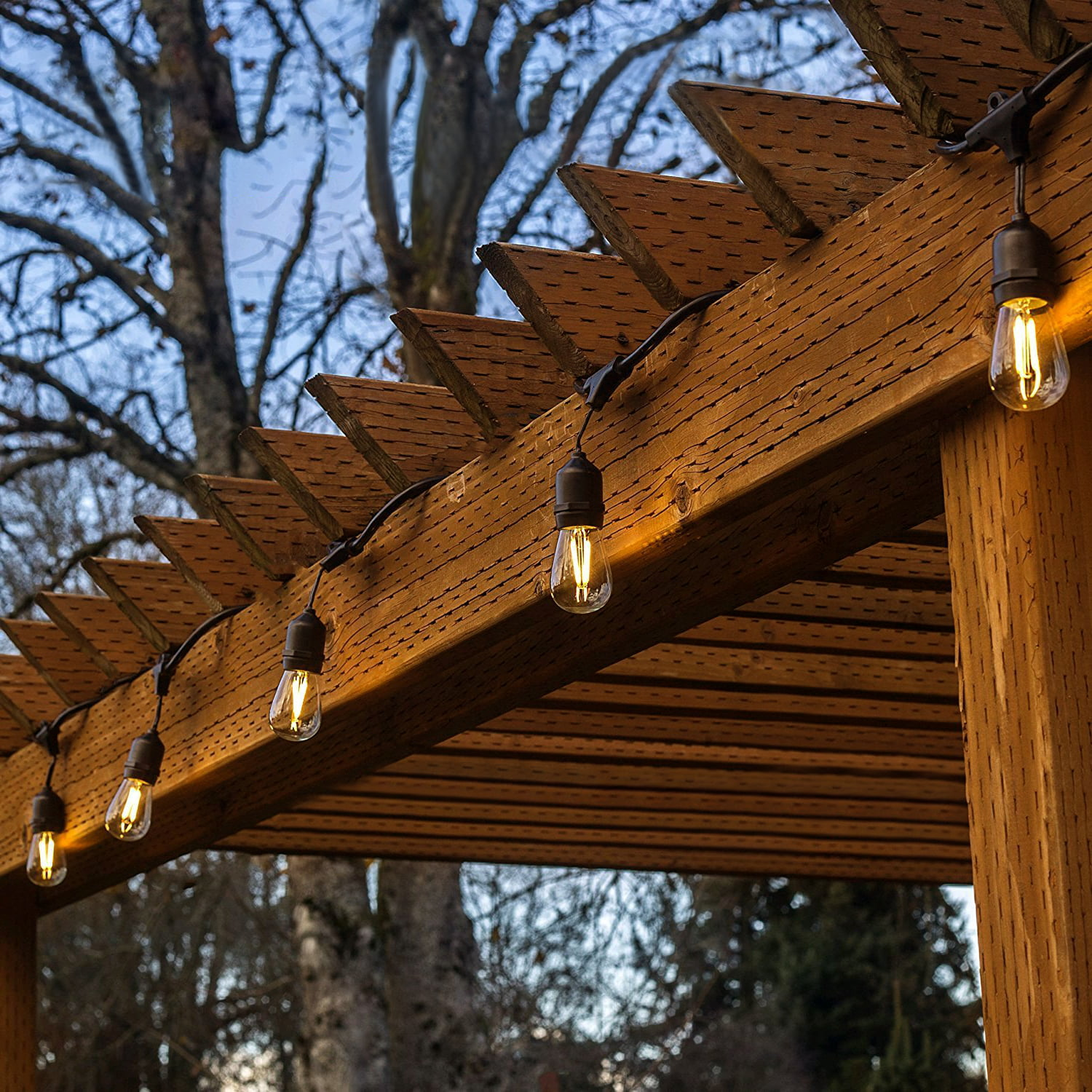 TORCHSTAR 50ft LED Outdoor Weatherproof Commercial String ...