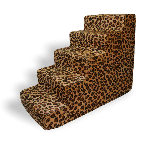 Best Pet Supplies Animal Print 5 Step Pet Stair (Set of 2)