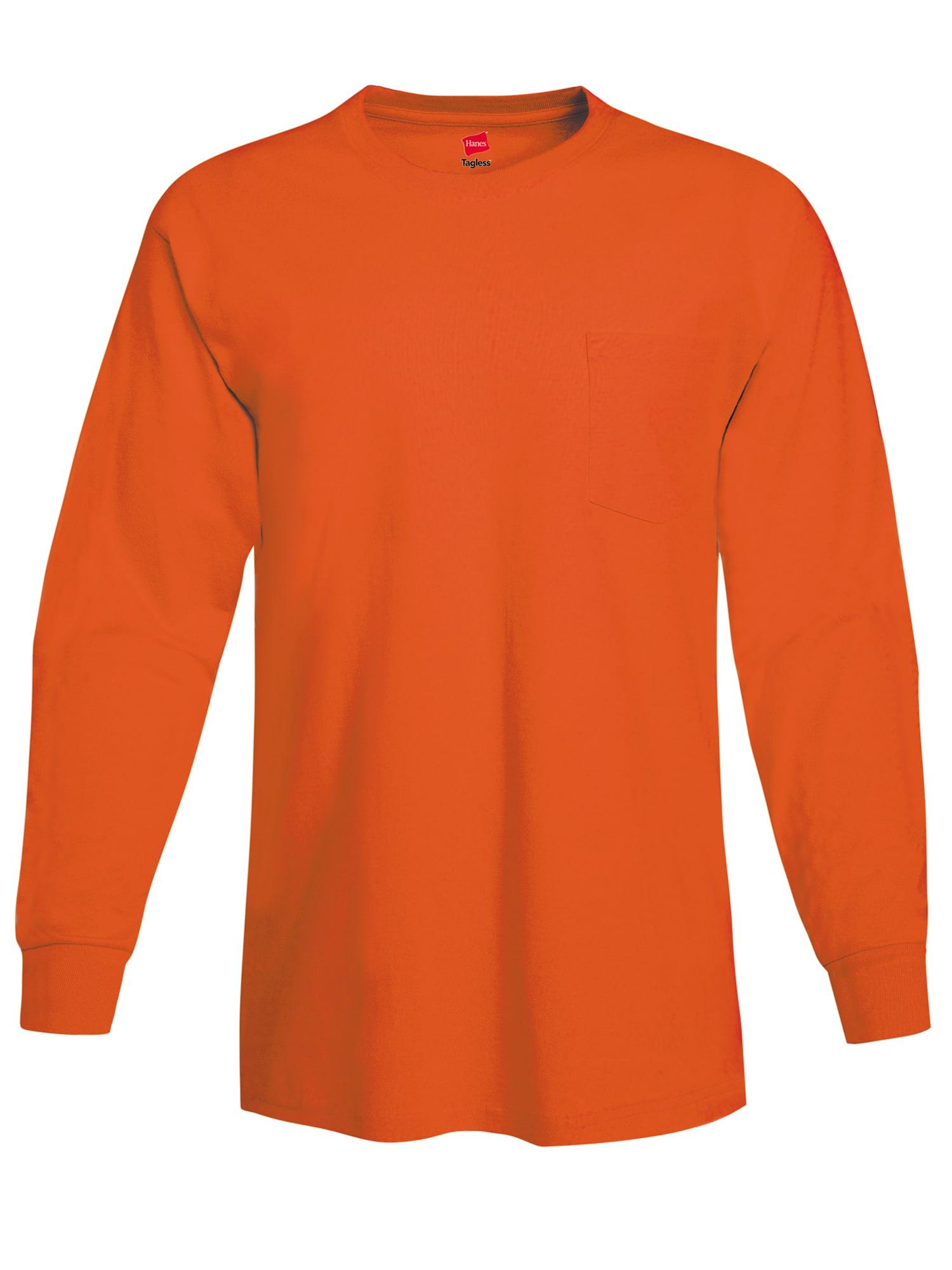 Hanes - Hanes Men s Tagless Cotton Long Sleeve Pocket Tshirt - Walmart.com 5bfa708f74e2