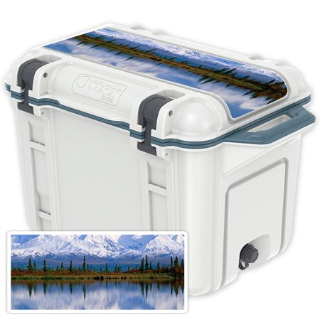 Skin Decal Wrap For Otterbox Venture 45 Qt Cooler Lid Sticker Mountains