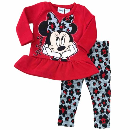 Infant Girls Disney Minnie Mouse Cheetah Leopard Animal Print Sweater Outfit 12m - Anime Outfit