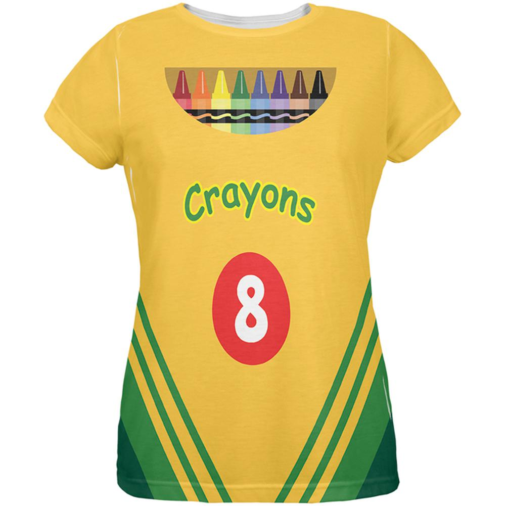 Crayon Box Costume All Over Ladies T-Shirt