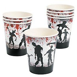Zombie Party Paper Cups (8 Count)  sc 1 st  Walmart & Mustache Party Paper Plates - Large Size - 8 Pack -Stache Bash ...