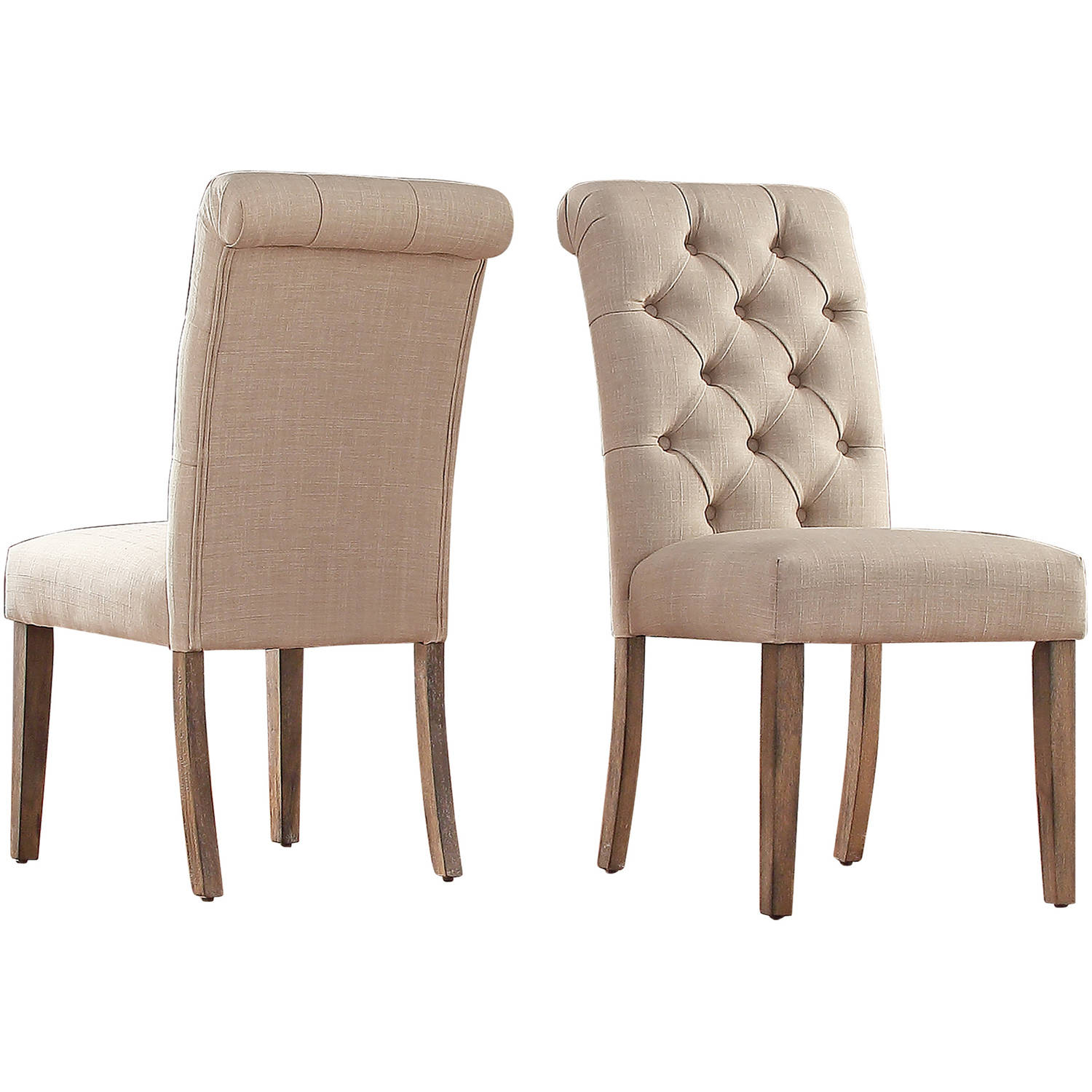 Signal Hills Benchwright Tufted Rolled Back Parsons Chairs by Set