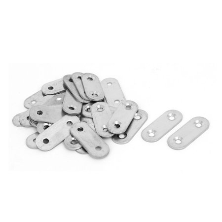 40mmx16mmx2mm Stainless Steel Straight Joining Mending Flat Repair Plates 30pcs