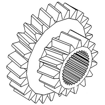A58026 New Case IH Tractor Sliding Cluster Gear 1070 1175