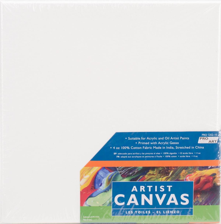 "Pro Art Stretched Canvas 2pk, 10"" x 10"""