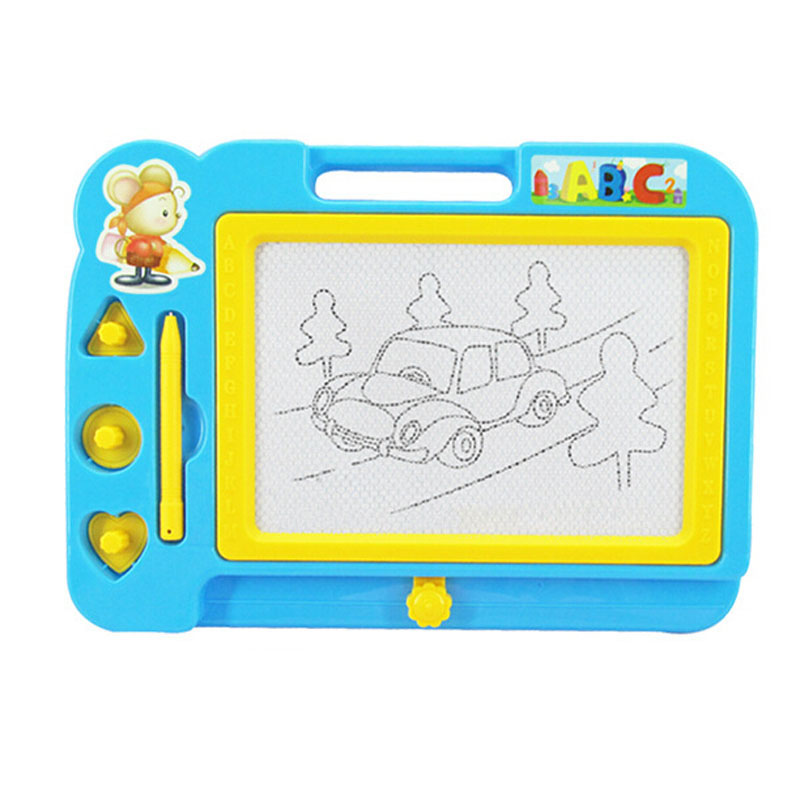 Blackboard Doodle, Outgeek Magnetic Drawing Board Toddlers Babies with 3 Stamps and 1 Pen for Kids Children