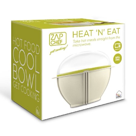 Zap Chef HEAT 'N' EAT Microwave Reheating Bowl Cool Touch BPA (Zap Timer)
