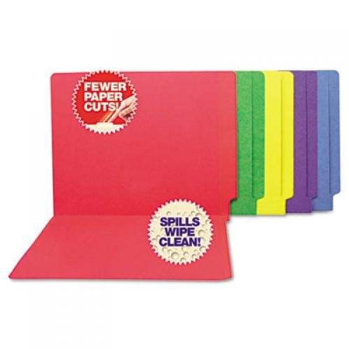 S J Paper Water-Resistant and Paper Cut-Resistant End Tab Colored File Folders