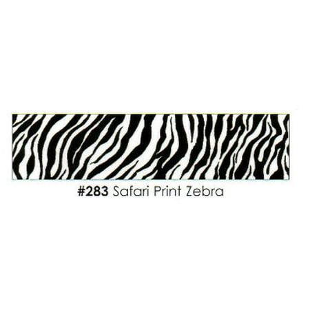 Safari Print Zebra 3 Strips Edible Frosting Photo Cake Border Decoration - Decoration Border