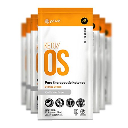 KETO//OS Orange Dream 2.1 Caffeine Free (15 Sachets), BHB Salts Ketogenic (Salt Sachet)