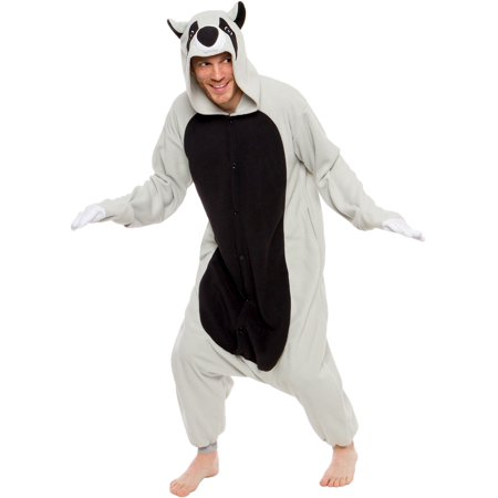 Silver Lilly Unisex Adult Plush Animal Cosplay Raccoon Costume Pajamas](Plush Animal Costumes)