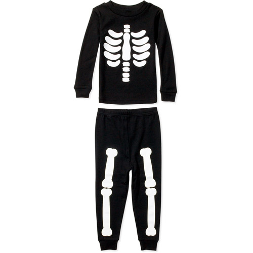 Toddler Boys' Skeleton Cotton Pajamas Set - Walmart.com